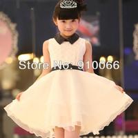 Free shipping  Factory direct sale Brand new Children princess dress Evening dress White princess clothes