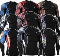 New Arrival All-In-One FIXGEAR C2L  Skin tight Compression Base Layer Training Workout Gym MMA Jersey  Sports Compression S~3XL