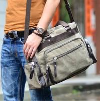 2014 New Arrival Men's Canvas Travelling Bag Business Trip Canvas Shoulder Bag Leisure Travel Bags For Men