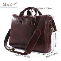 M&D New Arrivals British Fashion Men Handbag Genuine Leather Business Briefcase Messenger Bags