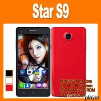 Free DHL-Star S9 MTK6592 Octa Core 1.7GHz 5.0 Inch IPS Screen Android 4.2 Smart Phone 13.0MP Camera 2GB 32GB 3G GPS OTG NFC