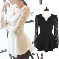 Женские блузки и Рубашки NEW BRAND  WY-Peplum