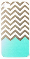 Grey & Green Zigzag Pattern Phone Skin Case Cover For iPhone 4 iPhone 4S
