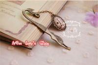 Free ship1lot=12pcs/Korean stationery kawaii cute metal bookmark  creative gem vintage bookmarks sq04  school supples