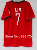 Free Shipping 2013-2014 Christmas Day New Material Houston #7 Jeremy Lin Men's Stitched Embroidery Basketball Sport Jersey S-2XL