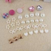 Diy handmade hair accessory ribbon kit child hair clips hair accessory material kit set bundle