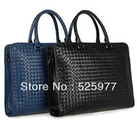 New Intrecciato Leather Briefcase 1159346-5 Black on Sale in real leather Briefcases