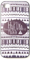 Hakuna Matata with Black Aztec Tribal Pattern Phone Case Cover For iPhone 4 iPhone 4S