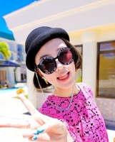 House of holland fashion vintage circle box letter sunglasses polka dot sunglasses
