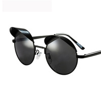 2013 round box mercury reflectorised women's metal frame sunglasses Men fashion glasses