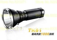 Free Shipping Fenix  TK61 XM-L2 LED lamp light bright hunting rechargeable flashlight 1000 lumens