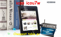 ICOO ICOU7W 7 inch Touch Screen Android 4.1 AllWinner A13 Tablet PC Single Camera WiFi External-3G OTG HDMI From  Redfox