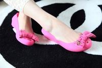 Melissa melissa crystal jelly shoes flat scrub open toe bow flat sandals