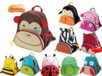Children School Bag Cartoon Animal Canvas Backpack Baby Toddler Kids Leather Shoulder Kindergarten Schoolbag Wholesale Retail