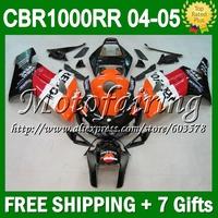 7gifts+Cowl For HONDA CBR1000 RR 04-05 04 05 Red black CL7977 CBR 1000 1000RR CBR1000RR 2004 2005 Repsol Orange Injection Fairin