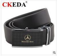 Brand Men's leather belt fashion alloy automatic buckle belt Korean commercial vehicle standard belt