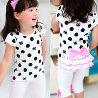 2014 children's summer clothing child short-sleeve T-shirt baby girl T-Shirts