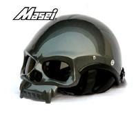Masei Skull Helmet Motorcycle Half Motorcross Racing Helmets Masei 419 Grey 2013 New