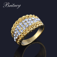 New arrival champagne gold plated lady ring,fashion high quality engagement Ring ,classic Jewelry accessory Free shipping RW035