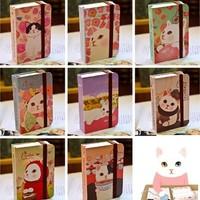 Blue Bai stationery--Korea stationery Cute cartoon animals Lovely jetoy cat pocket book 10.5cm*7cm*2.5cm 356