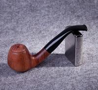 Free Shipping Mahogany smoking pipe handmade wood cut tobacco smoking pipe male set