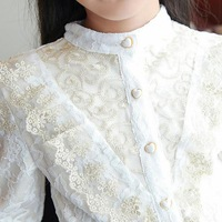 Children's clothing 2014 spring female child lace child long-sleeve shirt child princess lace shirt