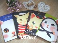 Blue Bai stationery--Korea stationery Cute cartoon animals Lovely jetoy cat Cross's diary Recorded books of account 357