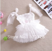 Girls dresses Retail Free shipping Summer new arrival high quality rose bow girl dress,children dress,kids dress girls clothing
