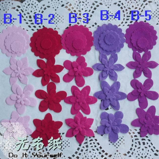 Felt Fabric Uses Felt Flower Scrapbook,fabric