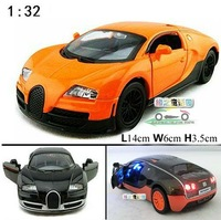 2014 High Quality 1:32 Bugatti Veyron Acousto-optic Toys Car  Classic Alloy Antique Car Model Wholesale Free Shipping