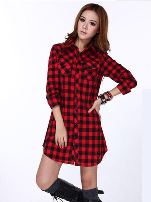 Plus Size Flannel Shirt Dress Dresses 2015 Plus Size Ladies