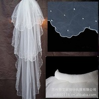 2014 wholesale bridal veil 3 layer beads edge  Wedding dress accessories, bride's headdress