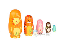 Free shipping,Russian matryoshka,Russian classic toys for kids,pretty paint color and nice quality wood,5 layers,educational toy