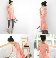 women's ladies' long sleeve Grinding wool comfortable dress, Joker maxi casual dresses Free Shipping F3211