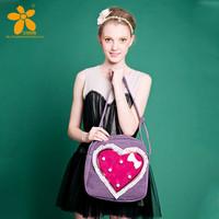 2014 Fashion brand design flower cute Signature Cotton handmade women lady messenger bag shoulder bags