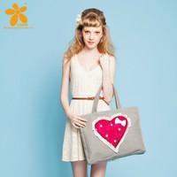 Women's fashion vintage casual heart bow print  handmade the trend of fashion sweet shoulder bag handbags