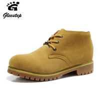 New arrival fashion trend casual medium cut boots cotton boots male boots genuine leather work boots martin boots male plus