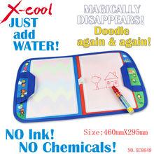 Free shipping xc8849nc 46X29.5cm Magic Water Doodle Mat with1 Magic Pen/ water doodle bag/drawing board/drawing rug(China (Mainland))