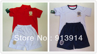 New England home White away RED kids soccer kit(jersey with short)2013/2014 children high quality soccer uniforms DROPSHIPPING
