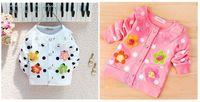 New baby kids girls Long Sleeve Cotton outerwear sweater flower