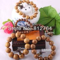 Chinese Buddha Wooden Products Manufacturer Wholesale 10pcs/lot Wenge Wood Beads Bracelets Buddhism Cassia Siamea Free Shipping