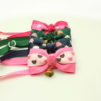 Handmade Small Dog Accessories Heart Pattern Ribbon Tie Bow  Specials Wholesale.