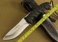 Damascus Bull Buffalo Horn Handle Hunting Knife DKH18
