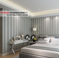 Free Shipping! Non-woven wallpaper modern brief tv background wallpaper vertical stripe  papel de parede