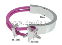 Free shipping!!!Zinc Alloy Bracelet,Cheap Jewelry Fashion, with Elastic Thread, platinum color plated, rose carmine, nickel