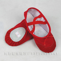 Free shipping Child dance practice ballet soft sole tip red cat's claw Shoes