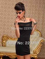 New Arrivals Slash Neck Sexy Brief Mini Dress Lady Fashion Design Tight Dress Clubwear With Back Zipper