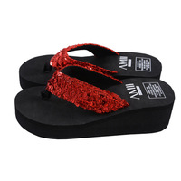 Fashion Glitter flip flops 2014 Women's New Sandals Arrival Summer Shoes Flip Flops