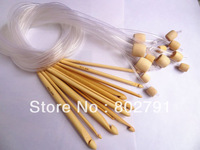12 Size Bamboo Afghan Tunisian Crochet Hooks Needles