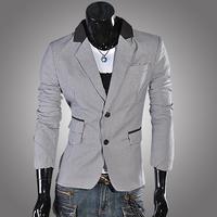 2013 suit slim fashion houndstooth fashion men suit jacket blazer